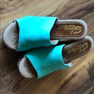 Turquoise Sbicca Vintage Sandals